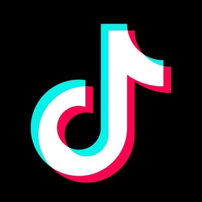 Une image montrant le logo de TikTok, une note de musique blanche au rebord bleu d'un côté et rouge de l'autre.