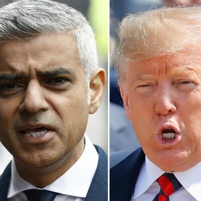 Sadiq Khan, maire de Londres, et Donald Trump, président des États-Unis