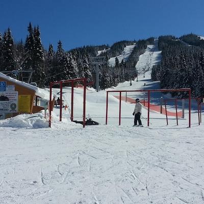 Des pentes du centre de ski.