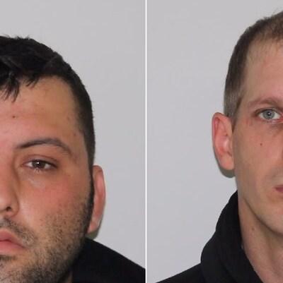 Montage des photos d'identité des deux accusés.