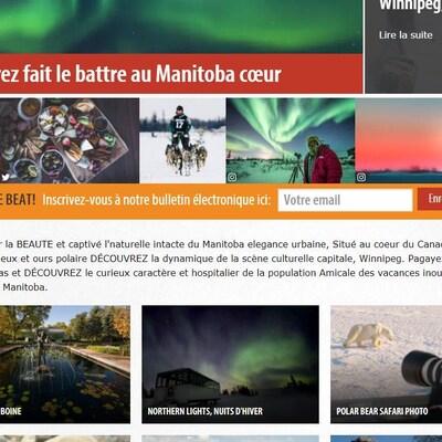 Capture d'écran du site Voyage Manitoba.