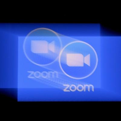 Le logo de l'application Zoom.