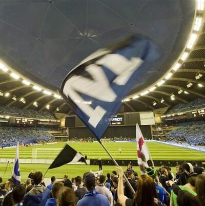 Un match de l'Impact au Stade olympique de Montréal