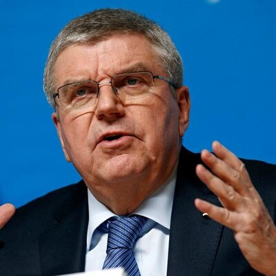 Thomas Bach en point de presse