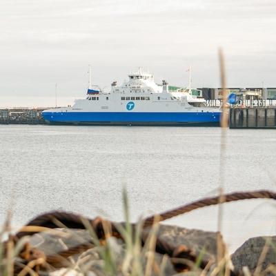 Le Saaremaa au quai de Matane