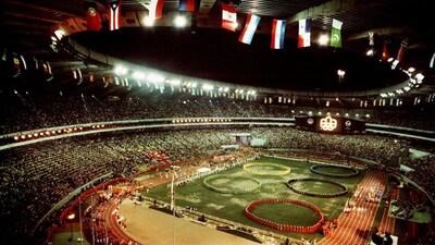 La cérémonie d'ouverture des Jeux olympiques de Montréal