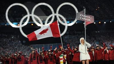 La délégation canadienne à la cérémonie d'ouverture des Jeux de Vancouver