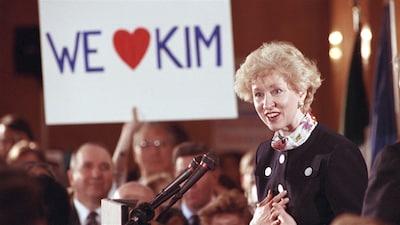 Kim Campbell en avril 1993