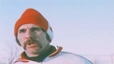 L'athlète Marcel Jobin, à l'entraînement, en 1976