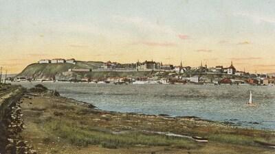 Québec vue de Lévis au début des années 1900