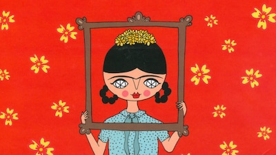 Page couverture du livre Moi, c'est Frida Kahlo