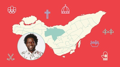 L'animateur Meeker Guerrier et l'arrondissement de Saint-Laurent sur la carte de Montréal