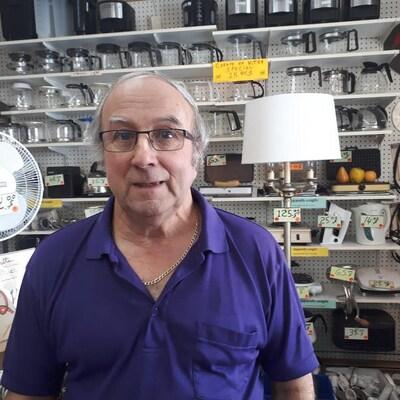 Jacques Lebrun propriéraire du commerce O'Boyle et Duplessis de Sherbrooke