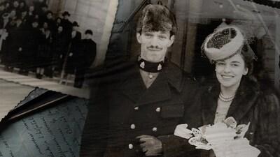 Portrait de Marie-Paule Rochette et d'Hervé lors de leur mariage.