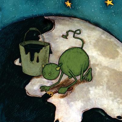 Page couverture du conte jeunesse Le barbouilleur de lune