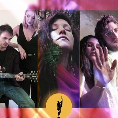 Montage photo des artistes De Flore, DJ Unpier, Les Soliloques, Mimi O'Bonsawin et Reney Ray.
