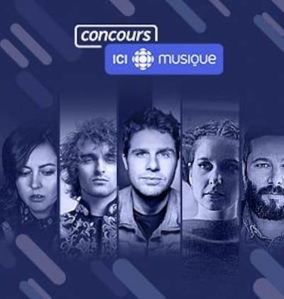 Dans un montage photo, Ariane Moffatt, Philippe Brach, Vincent Vallières, Klô Pelgag et Tire le Coyote pour le concours La chaîne musicale se donne en spectacle.