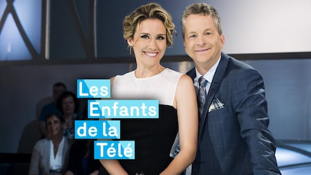 Édith Cochrane et André Robitaille, animateurs des Enfants de la télé.