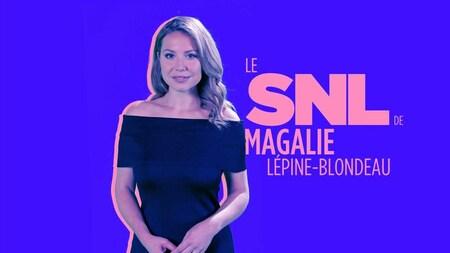 L'animatrice-comédienne  sur l'affiche de SNL Québec