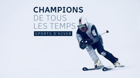 Un skieur sur la piste