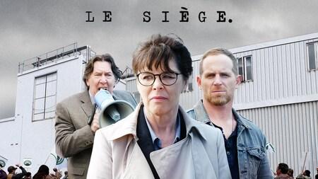 Gilles Renaud, Denise Bouchard et Alexandre Goyette, les trois têtes d'affiche de la série Le siège.