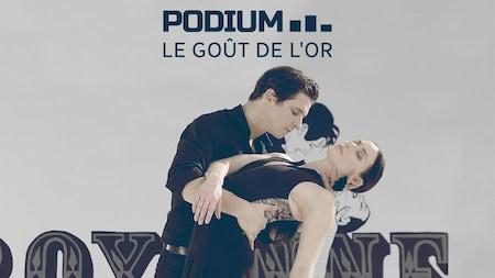Les patineurs Scott Moir et Tessa Virtue en performance.