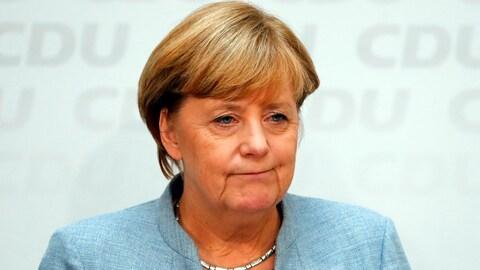 Angela Merkel en conférence de presse
