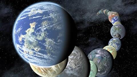 Représentation artistique du repas planétaire de l'étoile Kronos.