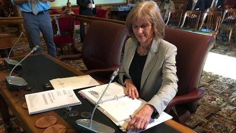 La vérificatrice générale du Nouveau-Brunswick Kim MacPherson a présenté un nouveau rapport sur Atcon, mardi matin à Fredericton