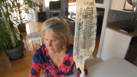 Nancy Roch, patiente atteinte de la sclérose latérale amyotrophique