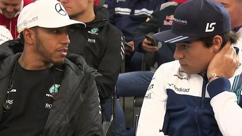 Lewis Hamilton et Lance Stroll