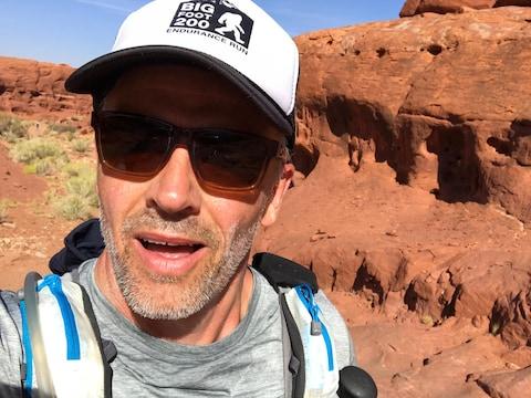 Patrice Godin pendant le Moab 200