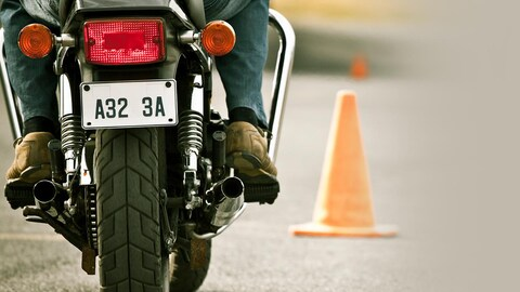 Une motocyclette
