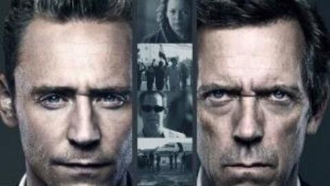 Photo montage des visages des deux personnages principaux de la série Le directeur de nuit (The Night Manager), Jonathan Pine et Richard Onslow Roper, interprétés respectivement par Tom Hiddleston et Hugh Laurie.