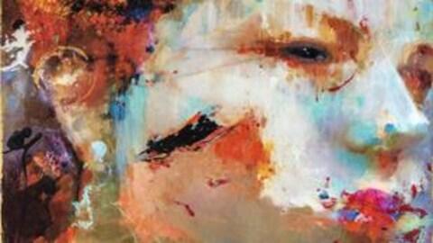 Une peinture d'Alain Provost qui représente le visage d'une femme.