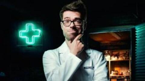 L'animateur des Aventures du Pharmachien, Olivier Bernard