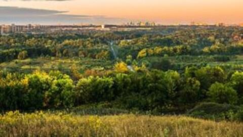 Le parc urbain national de la Rouge dans la Grande région de Toronto.