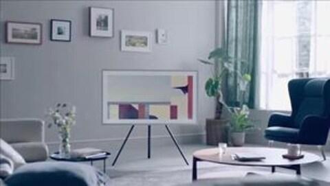 Un cadre de photo dans un salon