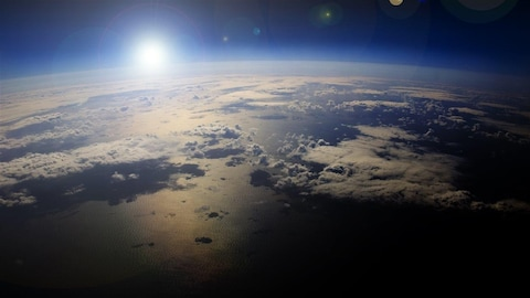 La planète Terre vue de l'espace.