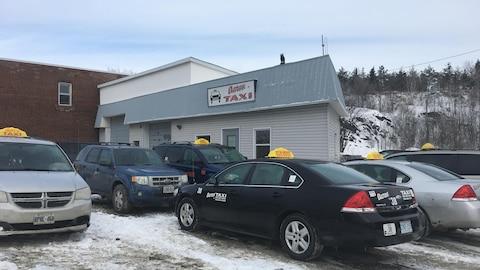 Les bureaux de l'entreprise Aaron Taxi à Sudbury.
