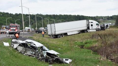 L'accident est survenu sur la route 185 dans le secteur de Saint-Louis-du-Ha! Ha!