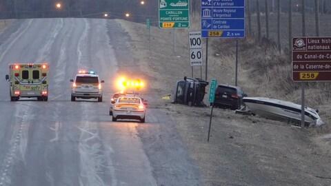 Un accident grave survenu sur l'autoroute 50, le 15 avril 2018 en fin d'après-midi, a fait un mort et un blessé.