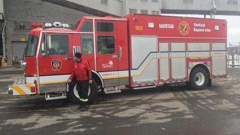 Un camion du Service de protection contre l'incendie de la Ville de Québec