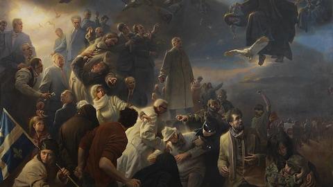 La fresque « Quebec », du peintre américain Adam Miller