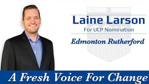 Portrait de Laine Larson sur le site internet de sa campagne à l'investiture.