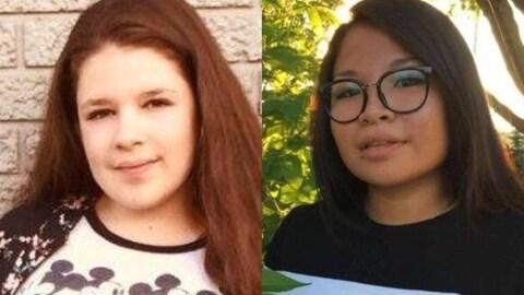 Amyrah Maranda, 16 ans, et Jessica Bergeron-Painchaud, 17 ans, manquent à l'appel depuis le 12 novembre.