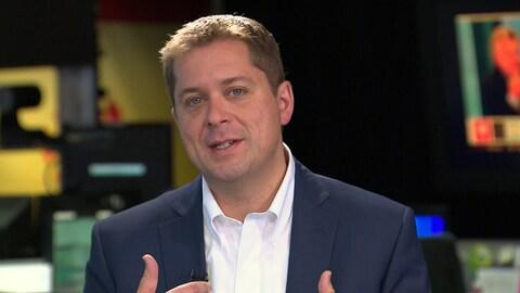 Andrew Scheer lors d'une entrevue accordée à Radio-Canada.