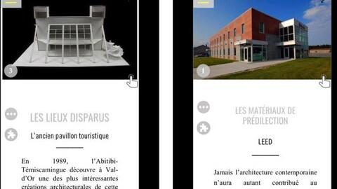 Une application mobile pour apprendre plus sur l'architecture de Val-d'Or