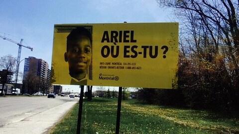 « Ariel, où es-tu? », peut-on lire sur la pancarte.