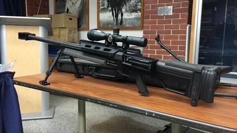 Ce fusil de calibre .50 est semblable à ce que les tireurs d'élite utilisent dans les champs de bataille.